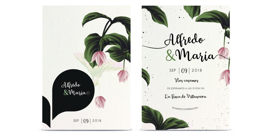 Invitación boda diseño nunu2